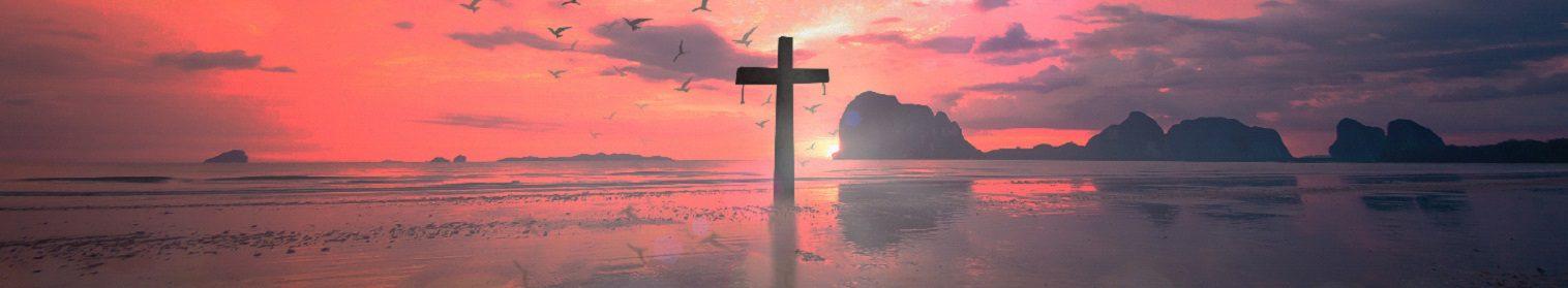 Image of cross at sunrise